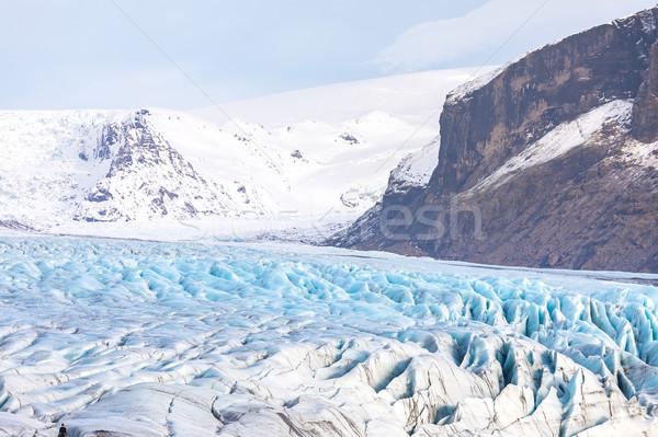 Glacier parc nature paysage fond beauté Photo stock © vichie81