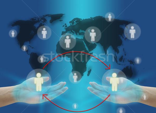 Trabajo rotación negocios mano mantener persona Foto stock © vichie81