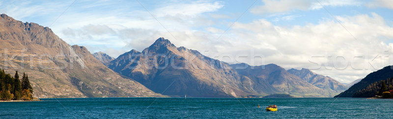 Meer New Zealand panorama schilderachtig berg landschap Stockfoto © vichie81