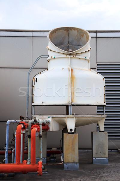 冷却 ファン ビッグ パイプライン 建物 市 ストックフォト © vichie81