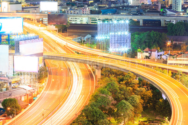 Bangkok şehir merkezinde karayolu iş gökyüzü Stok fotoğraf © vichie81