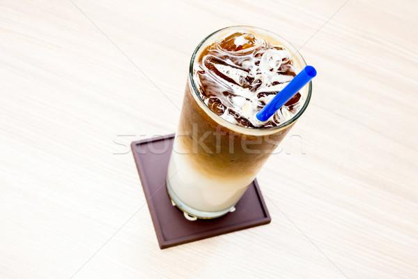 Ghiacciato cafe Cup alimentare bere shop Foto d'archivio © vichie81