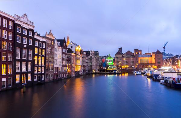 Amsterdam at dusk Stock photo © vichie81