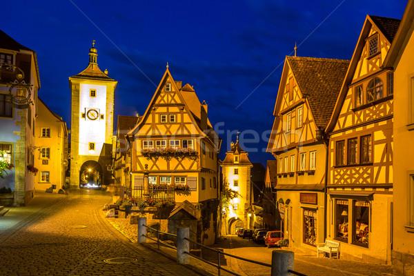 Németország alkonyat gyönyörű kilátás történelmi város Stock fotó © vichie81