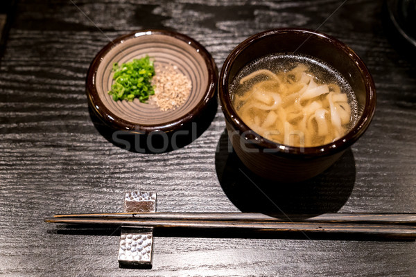 Kishimen udon noodles Stock photo © vichie81
