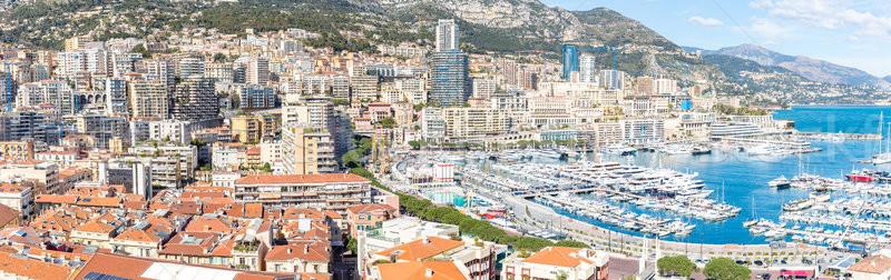 Monaco Monte Carlo panorama Stock photo © vichie81