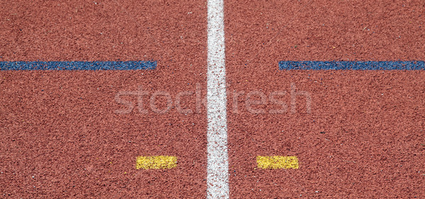 color line on race track Stock photo © vichie81