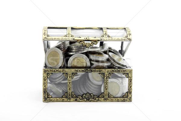 Zdjęcia stock: Otwarte · piersi · pełny · bogactwo · monet · ceny