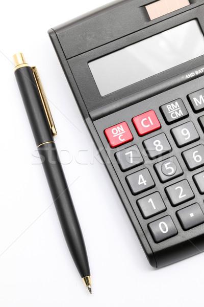 calculator and pen Stock photo © vichie81