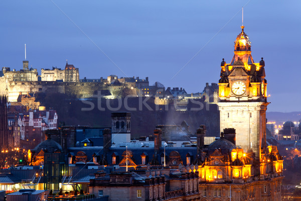 Edinburgh Castle and Skylines Stock photo © vichie81