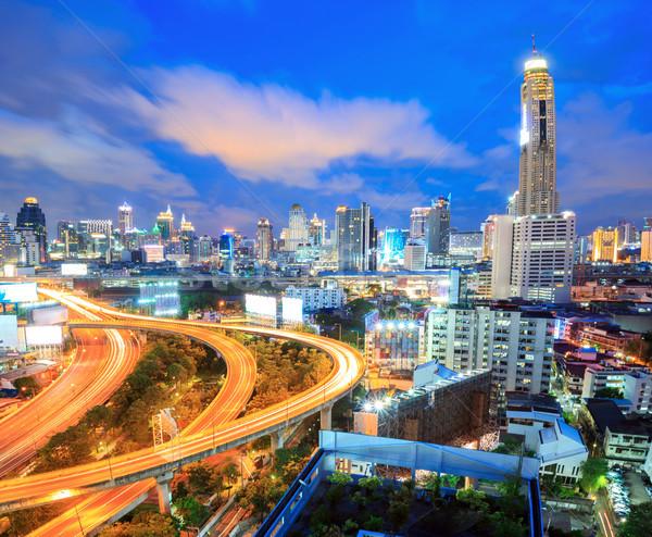Bangkok Highway downtown Stock photo © vichie81