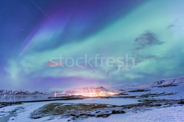 Stock photo: Northern Light Aurora borealis Iceland