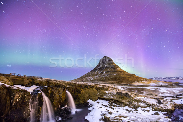 Aurora borealis Iceland Stock photo © vichie81