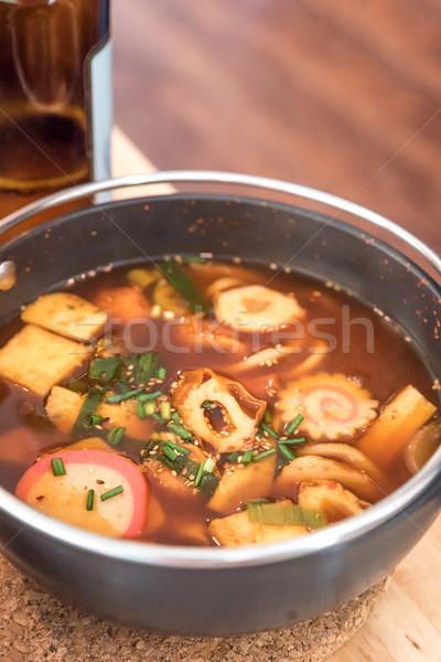 Сток-фото: пряный · суп · Японский · кухня · здоровья · зеленый