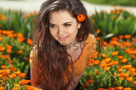 Beauty Long Wavy Hair. Beautiful Brunette Woman. Healthy Hairsty Stock photo © Victoria_Andreas