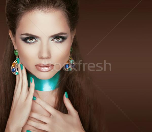 Glamour mode sieraden make nagels Stockfoto © Victoria_Andreas