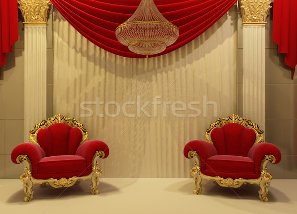 Baroque furniture in royal interior Stock photo © Victoria_Andreas