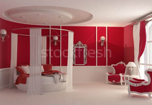 Furniture in luxury bedroom Stock photo © Victoria_Andreas