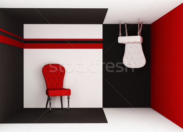 Perspective furniture in geometrical interior.  Chair on the flo Stock photo © Victoria_Andreas