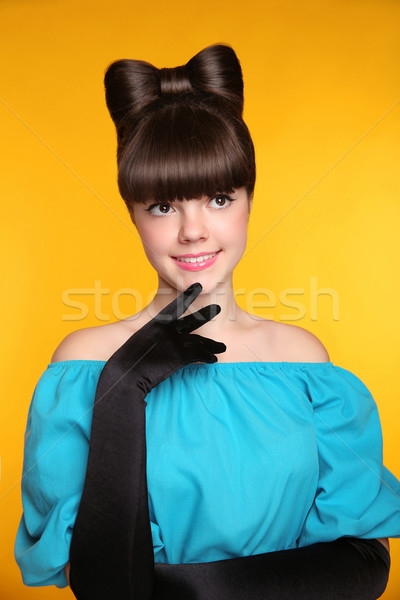 Pretty smiling girl flirting. Beauty Fashion Glamorous teen Mode Stock photo © Victoria_Andreas