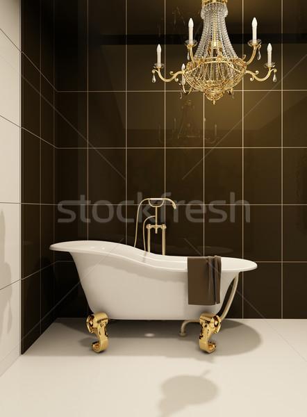 Lüks banyo banyo uzay iç temizlemek Stok fotoğraf © Victoria_Andreas