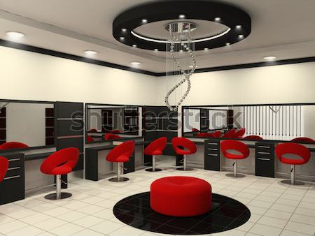 Luxurious interior of a beauty salon with creative ceiling Stock photo © Victoria_Andreas