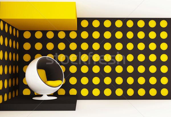 Poltrona projeto interior cósmico ambiente moda Foto stock © Victoria_Andreas