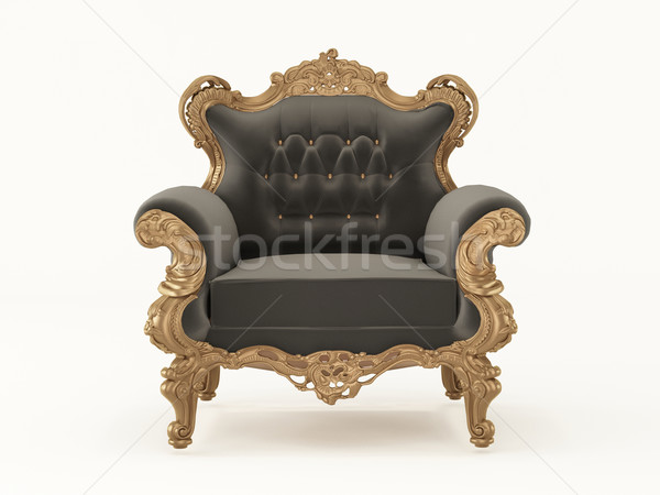 Luxurious pattern armchair with bronze frame isolated on white b Stock photo © Victoria_Andreas