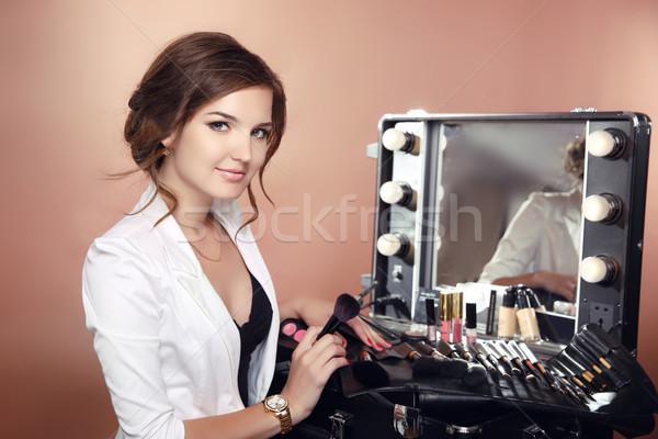 красоту визажист профессиональных стилист одевание Сток-фото © Victoria_Andreas