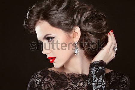 Luxury and Fashion Portrait of stylish woman model with sunglass Stock photo © Victoria_Andreas