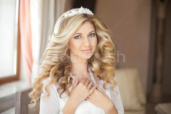 Stok fotoğraf: Makyaj · sağlıklı · güzellik · gelin · düğün