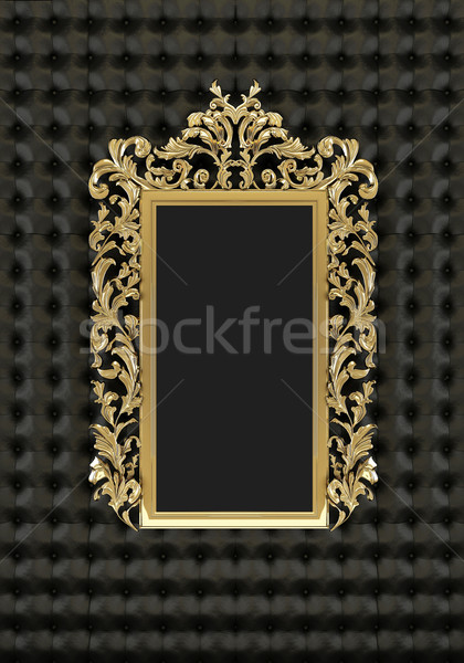 Luxury gold frame on the black background Stock photo © Victoria_Andreas