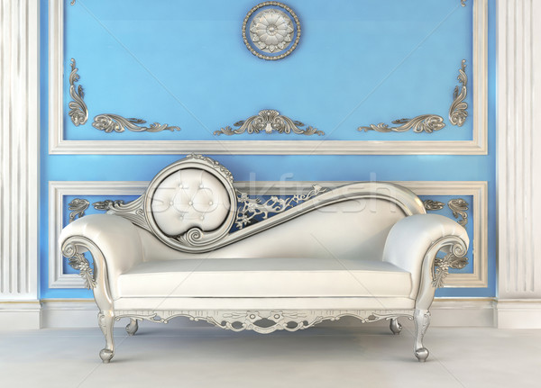 Luxurious sofa in blue royal interior Stock photo © Victoria_Andreas
