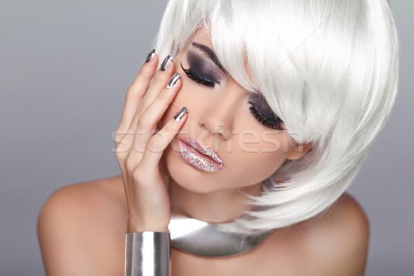 Mode blond fille beauté portrait femme Photo stock © Victoria_Andreas