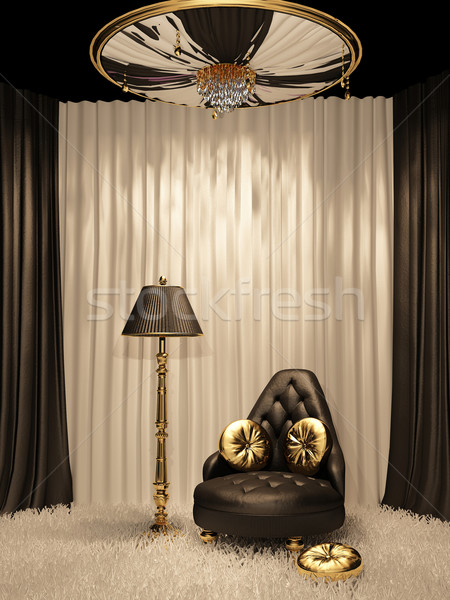 Luxurious furniture in royal interior Stock photo © Victoria_Andreas