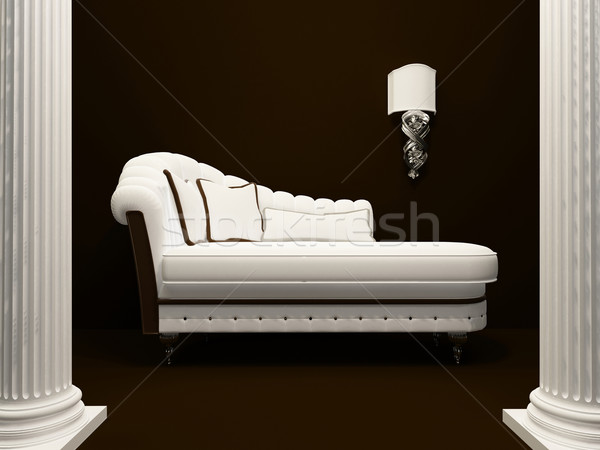 Classic sofa  in the middle of pillars Stock photo © Victoria_Andreas