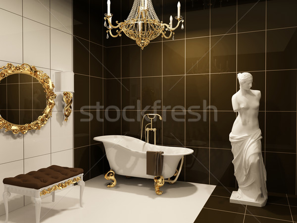 Luxurious furniture with statue  of Venus in baroque bathroom Stock photo © Victoria_Andreas