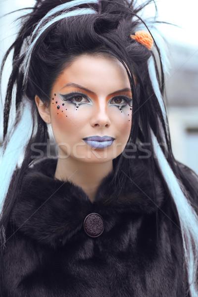 Piękna moda punk teen girl portret sztuki Zdjęcia stock © Victoria_Andreas