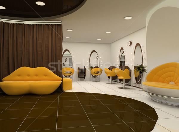 Interior of luxury beauty salon Stock photo © Victoria_Andreas