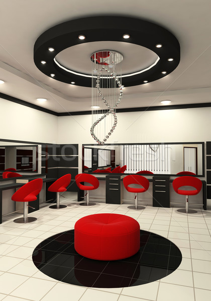 Workplaces and construction of ceiling in salon of beauty Stock photo © Victoria_Andreas