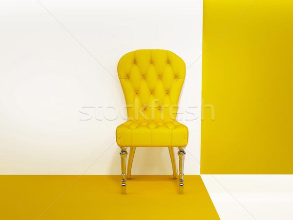 кресло Председатель абстракция интерьер строительство стены Сток-фото © Victoria_Andreas