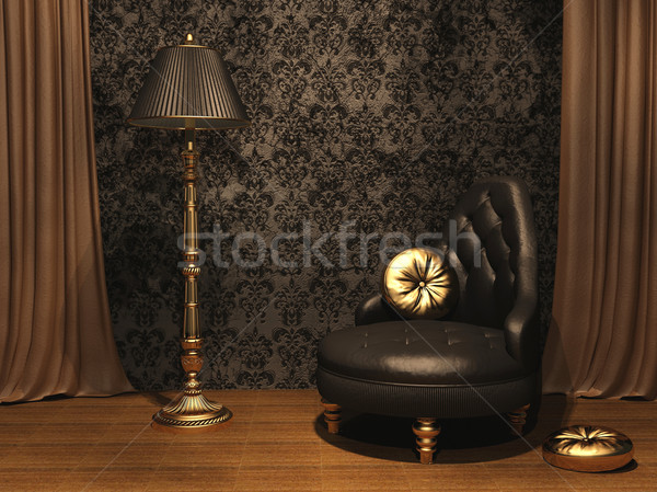 Luxurious furniture in old styled interior Stock photo © Victoria_Andreas