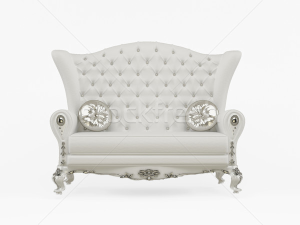Modern sofa with decorative pillows isolated on white background Stock photo © Victoria_Andreas
