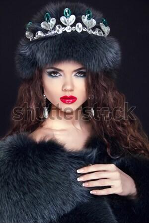 Сток-фото: ювелирные · моде · элегантный · Lady · красивая · женщина