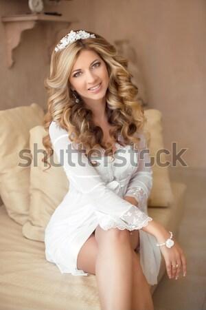 Güzel genç kadın seksi beyaz kadın iç çamaşırı Stok fotoğraf © Victoria_Andreas
