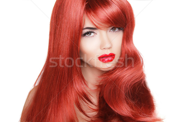 Hair. Beauty Fashion Model Woman with Long and Healthy Red Hair. Stock photo © Victoria_Andreas