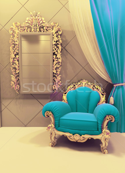 Royal  furniture in a luxurious interior, velvet upholstery Stock photo © Victoria_Andreas