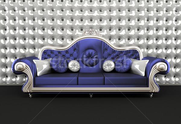 Fényűző kanapé vánkos belső divat szoba Stock fotó © Victoria_Andreas