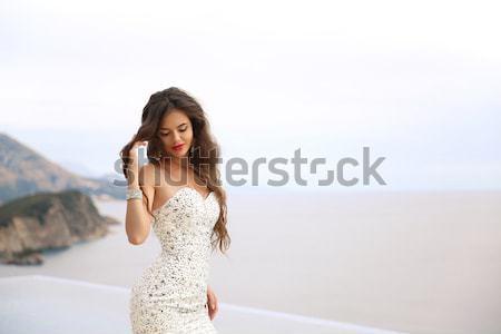 Foto stock: Casamento · beleza · moda · elegante · noiva · mulher