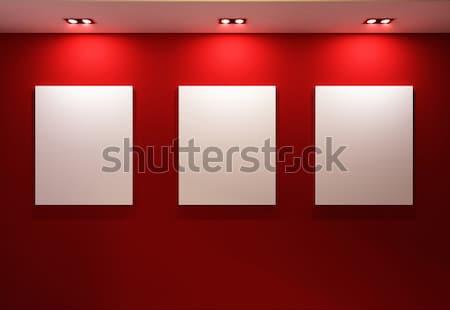 Galleria interni vuota fotogrammi muro Foto d'archivio © Victoria_Andreas